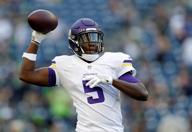 Bridgewater resumes throwing, with Vikes QB depth a concern