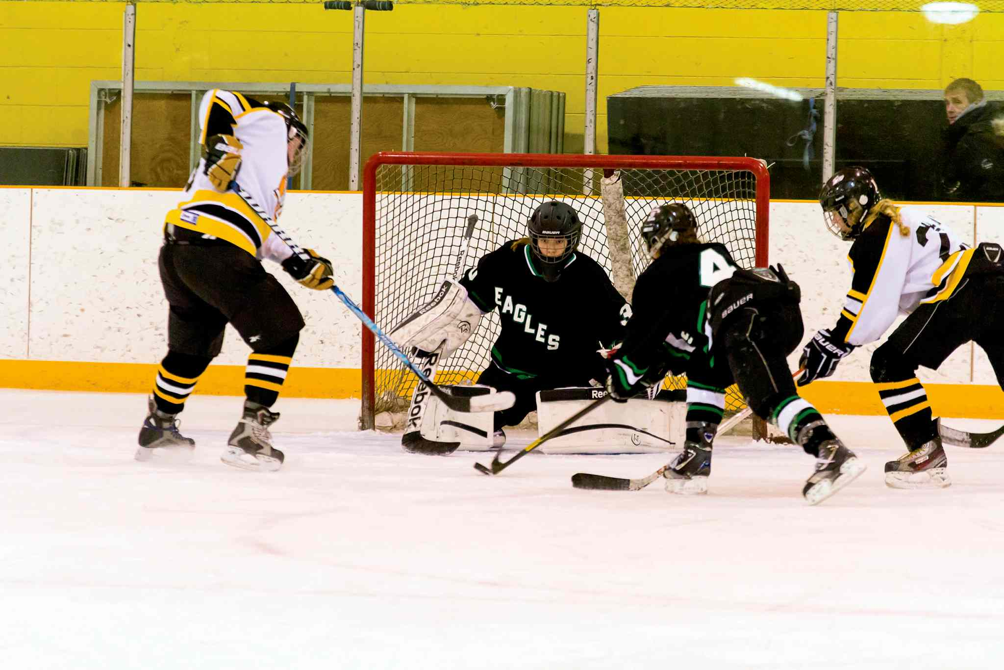 SJR Eagles goalie Steph Caryk was named the Winnipeg Women's High School Hockey League Athlete of the Week for the week ending Jan. 31.
