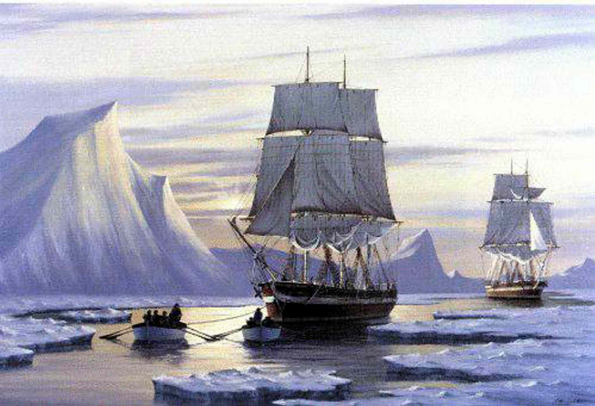 The Erebus and the Terror, ships from the 1845 Franklin expedition of Sir John Franklin.