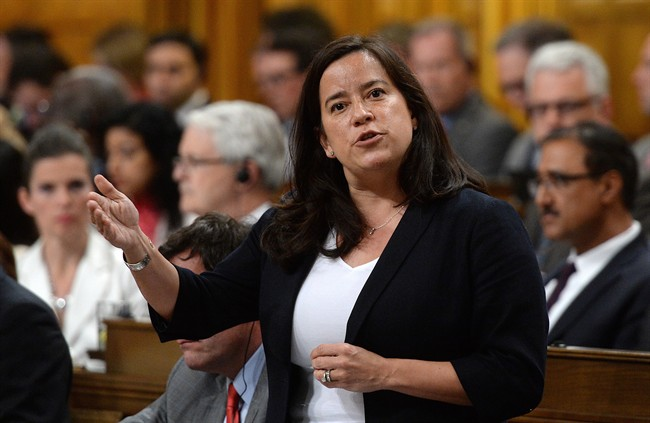 Minister of Justice and Attorney General of Canada Jody Wilson-Raybould responds to a question during question period in the House of Commons on Parliament Hill in Ottawa on Monday, June 6, 2016. THE CANADIAN PRESS/Sean Kilpatrick