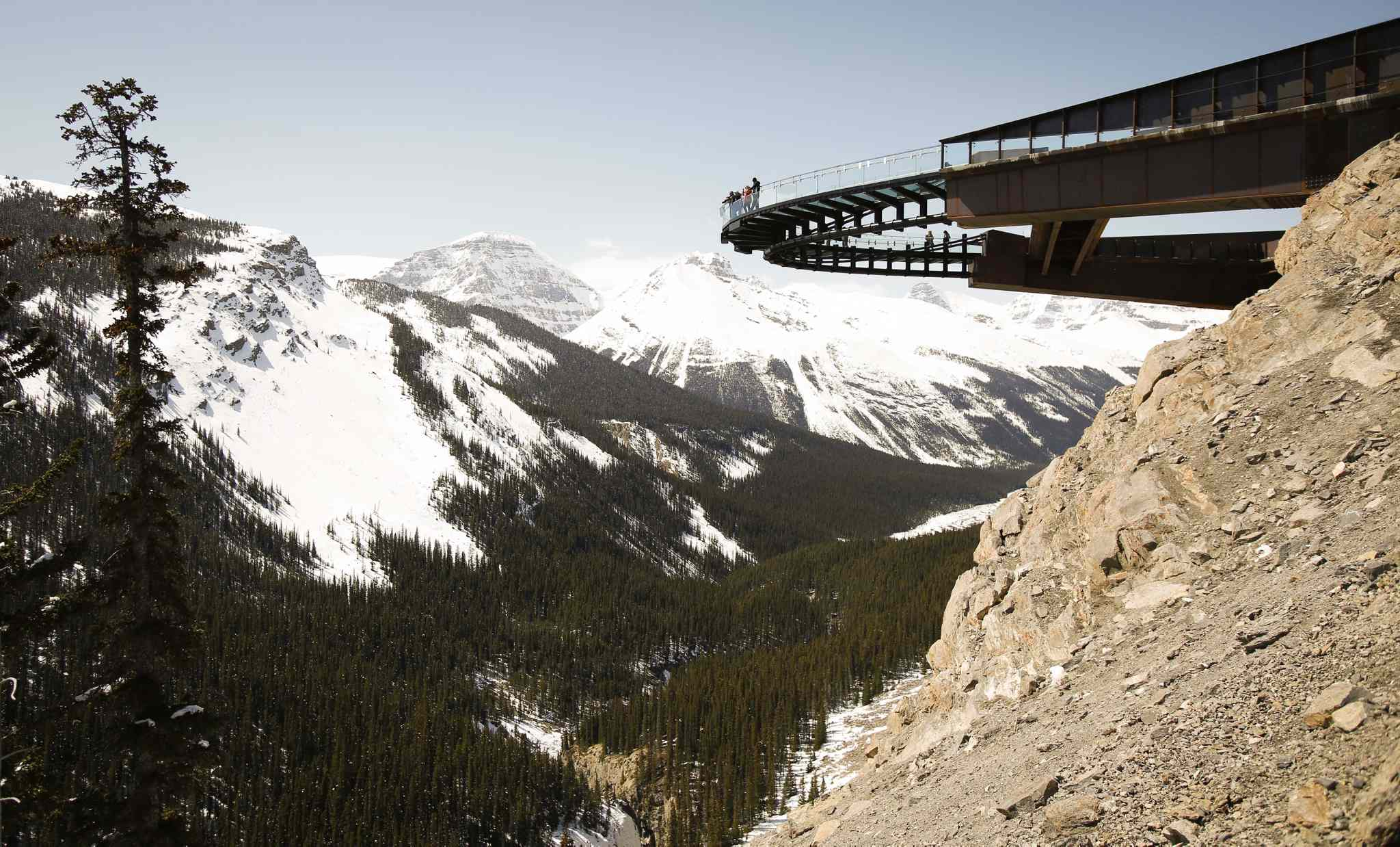 The newly opened Glacier SkyWalk near the Columbia Icefields in Jasper National Park. The project passed a federal environmental assessment in 2012 and was fully endorsed by Parks Canada.