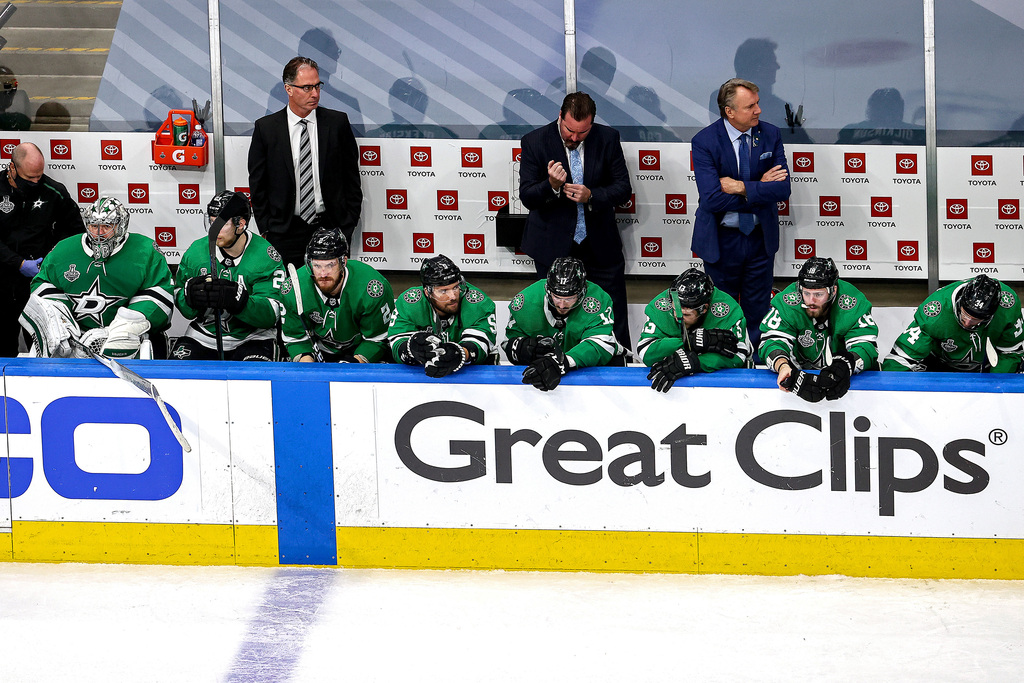 The Dallas Stars were forced to cancel their first games after a reported six players and two staff tested positive for COVID. (Bruce Bennett / Getty Images files)
