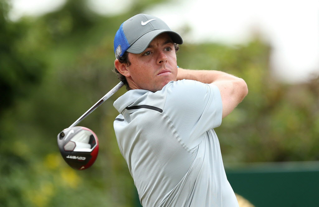Northern Ireland's Rory McIlroy during the third round of the 143rd British Open Championship at Royal Liverpool Golf Club Saturday. McIlroy shot a final round of 71 to seal his victory at the Open.  The 25-year-old was 17 under par for the tournament.   (Peter Cziborra / MCT)