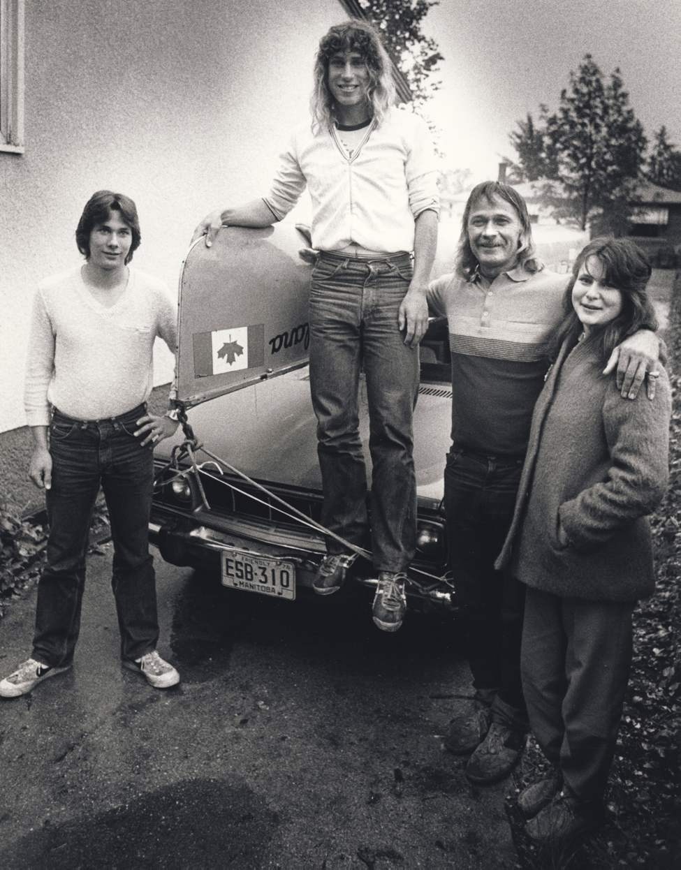 (l-r) Jeff, Dana, Don and Sherri Starkell. 1982