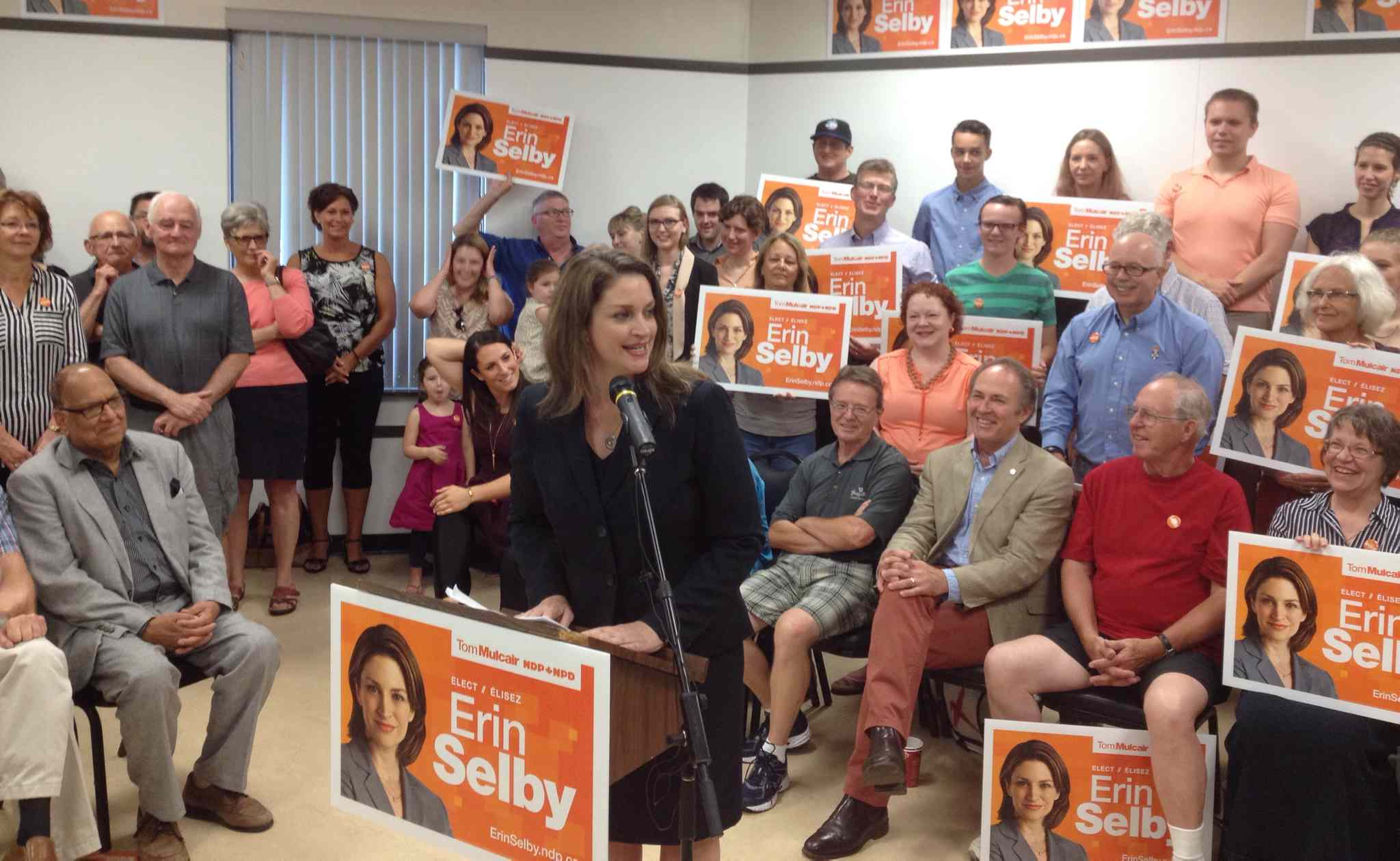 Erin Selby announced Friday morning she will be the federal NDP candidate in St. Boniface-St. Vital at an event at the Glenwood Community Centre.