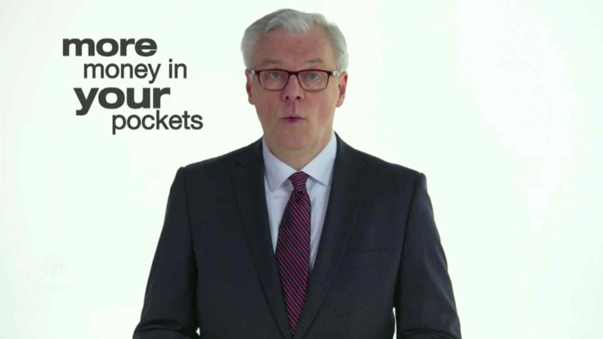 A still from the new ad from the NDP.