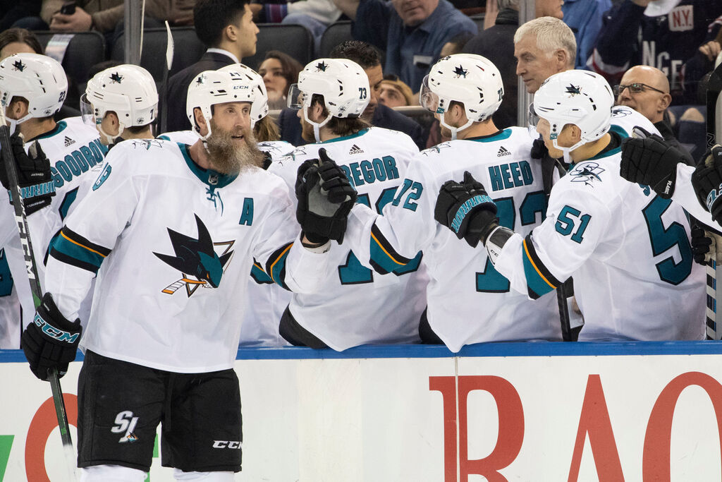 It will be strange to see Joe Thornton wearing a maple leaf on his chest this season after more than 14 years with the San Jose Sharks. (Mary Altaffer / The Associated Press files)