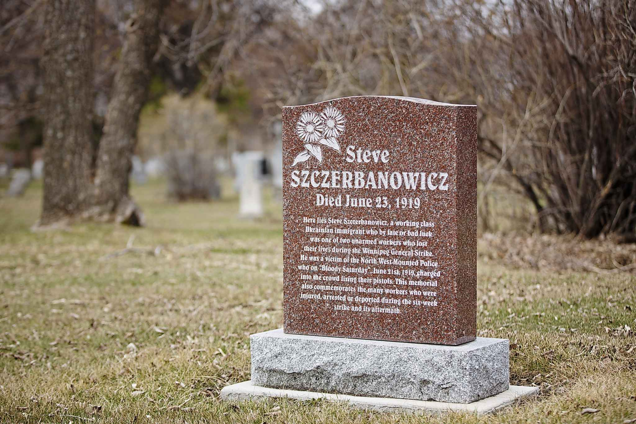 Steve Szczerbanowicz was one of two men who lost their lives during the Winnipeg General Strike.