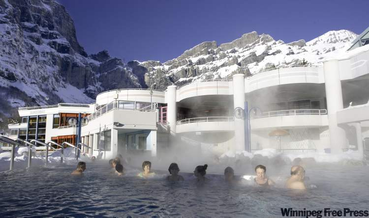 The Burgerbad is a complex of natural hot-spring pools, with locker rooms and moderate entrance fees.