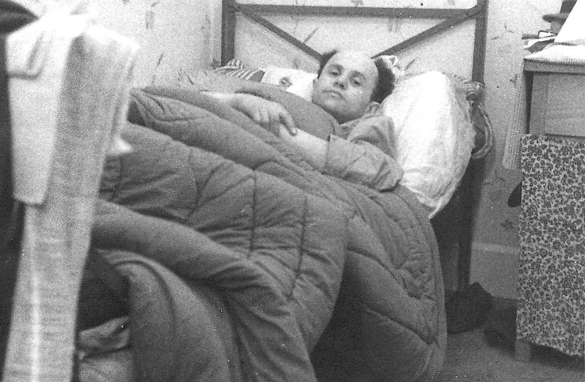 Jarniewski recovering in German hospital after being liberated from Dachau.