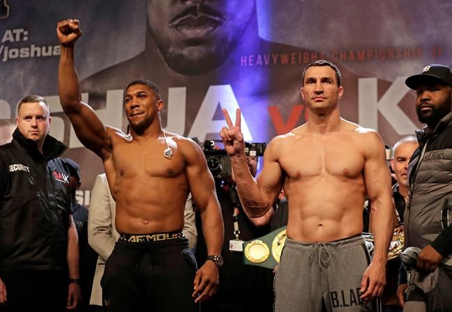 British boxing star Anthony Joshua knocks out Wladimir Klitschko, wins heavyweight titles