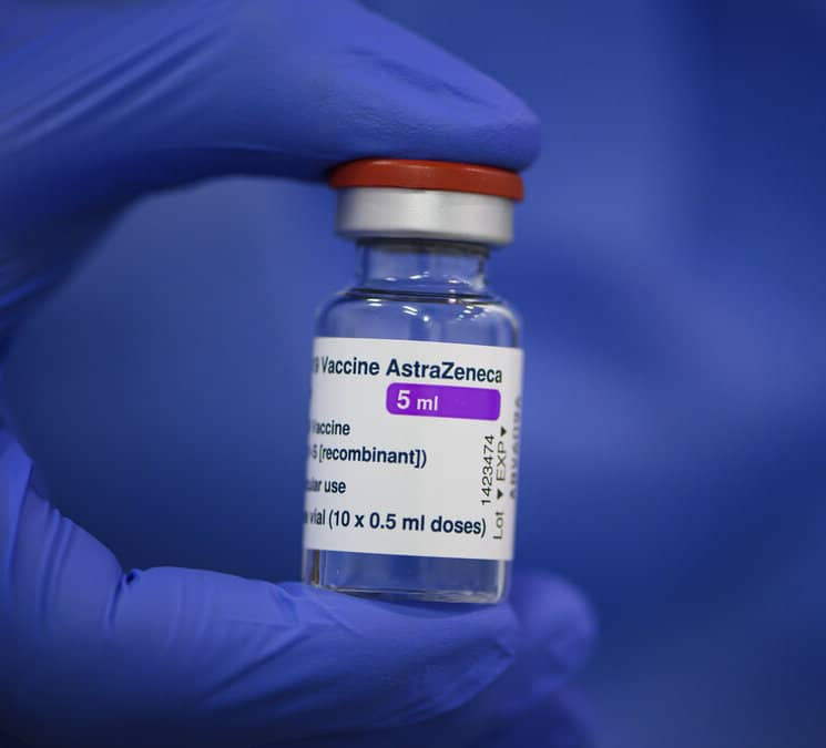Of the 521,910 doses received by the province, 84,100 were AstraZeneca vaccines.(Robert Michael/dpa via AP, file)