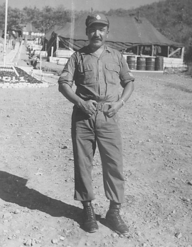 Tommy Prince in Korea in 1953.