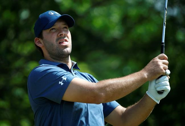 How is Tony Romo doing in his U.S. Open local qualifier?