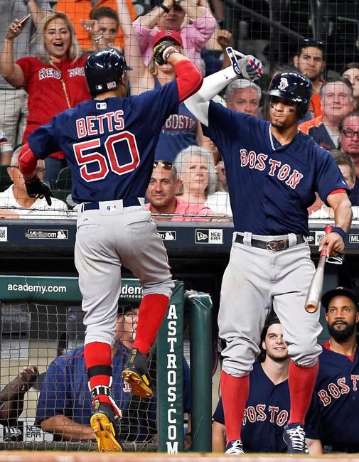 Boston Red Sox Defeat Houston In Thriller, Tie For First