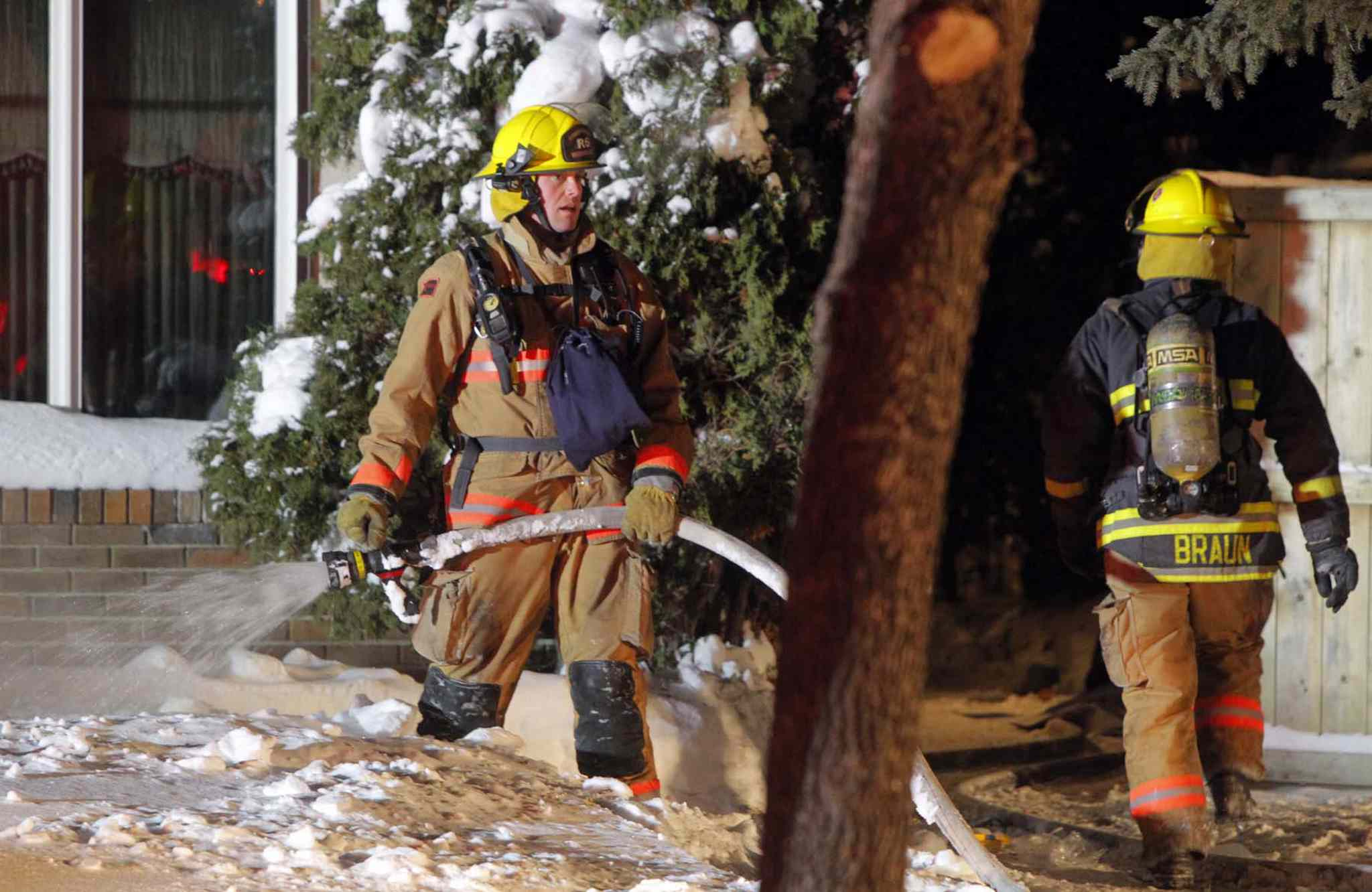 A woman, believed to be in her 70s, died in a Tyndall Avenue blaze Thursday night.