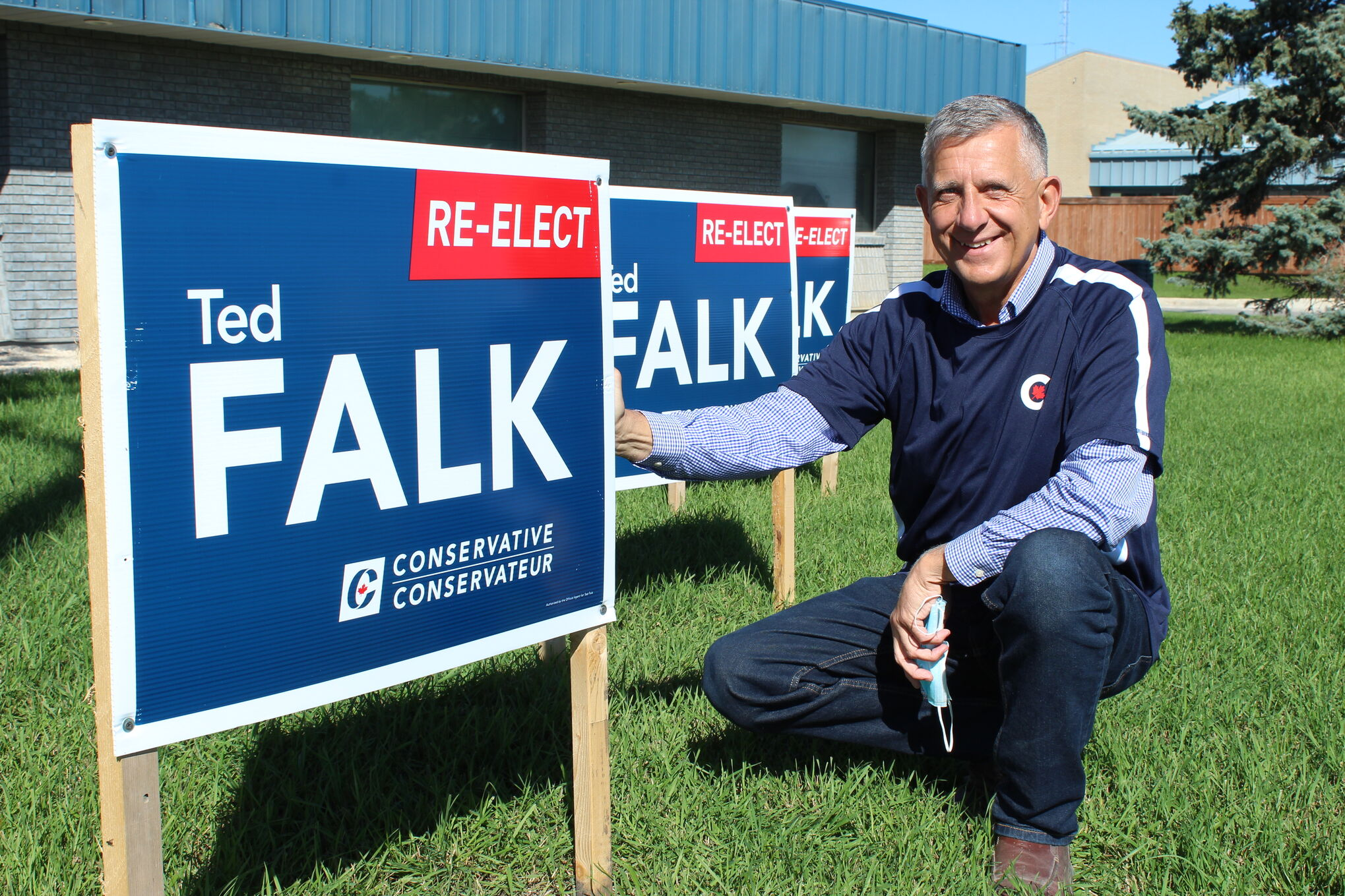 Conservative Party incumbent Ted Falk is seeking a fourth consecutive mandate from Provencher voters.