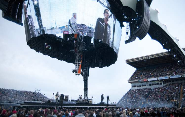 U2 in concert at Canad Inns Stadium in May was one of the year's top shows.