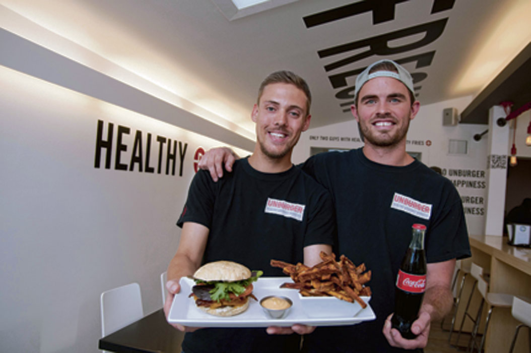 Unburger co-owners Marc Priestly (left) and Kyle Matheson. (Hadas Parush / Winnipeg Free Press Archives)