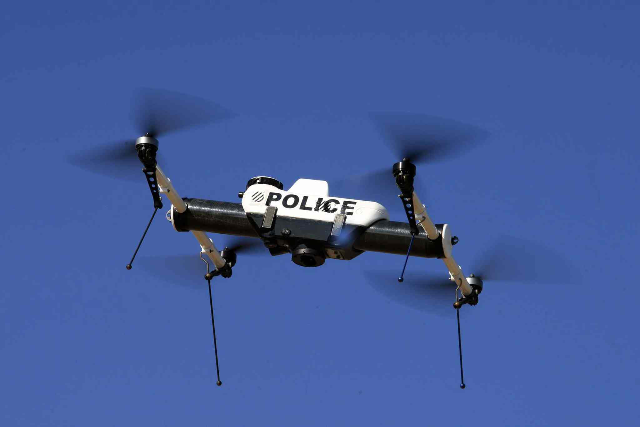A drone is given a test flight in California in 2011. Mayoral candidate Gord Steeves would give drones to the Winnipeg Police Service as a backup for its helicopter.
