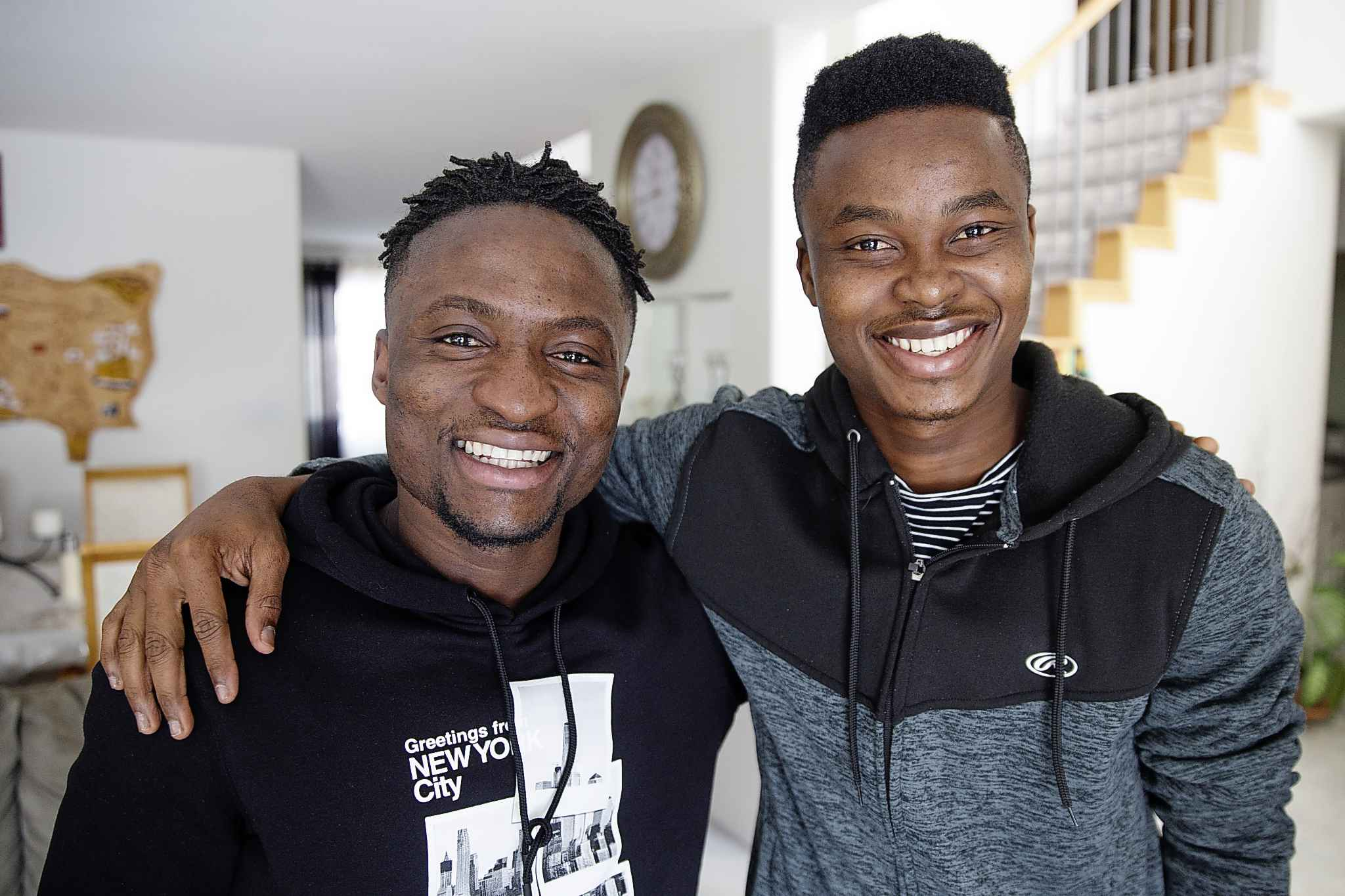 Solomon Kojo Antwi (right) has been living with teammate Raphael Ohin (left) who's also from Ghana and is going into his second year with Valour FC.