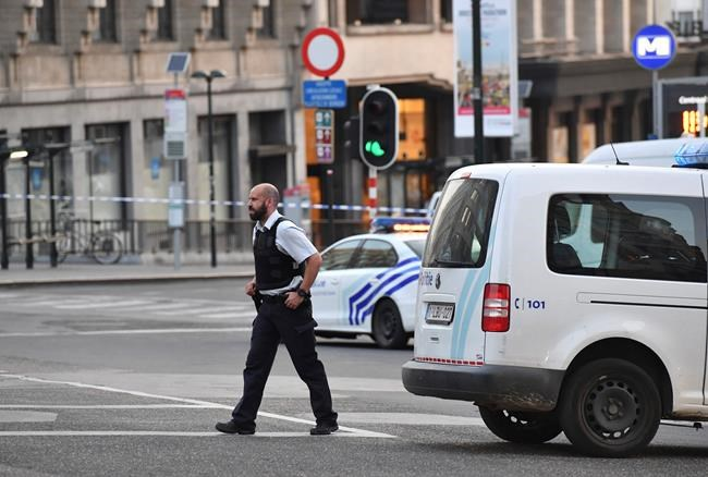 Suspect shot after explosion at Brussels train station