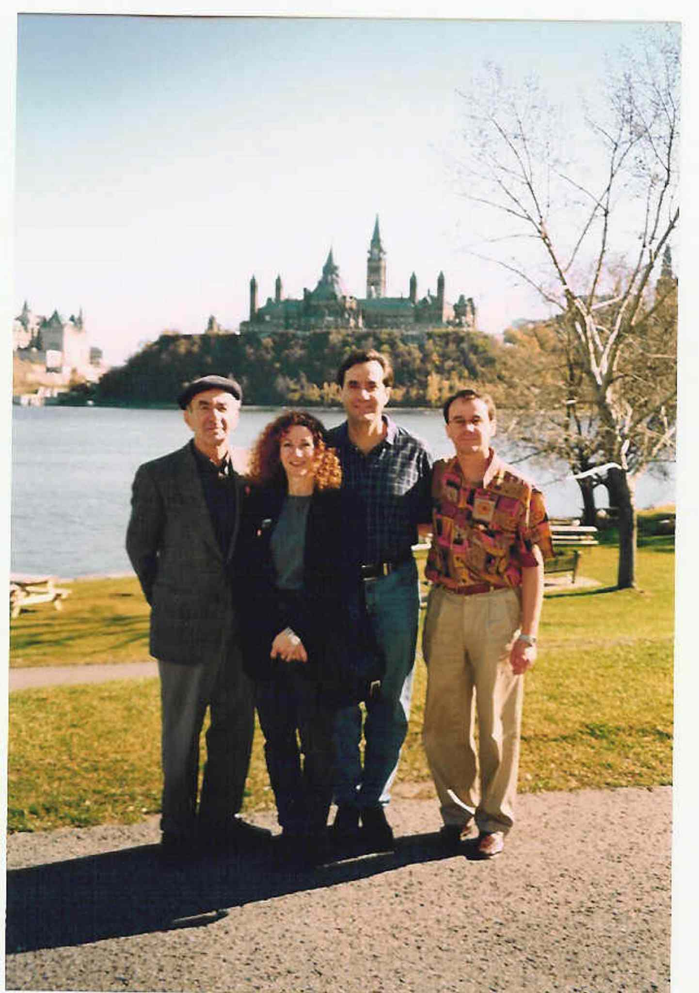 Val Werier with his children, Judy, Micheal and Jonathon during a trip to Ottawa to receive the Order of Canada.