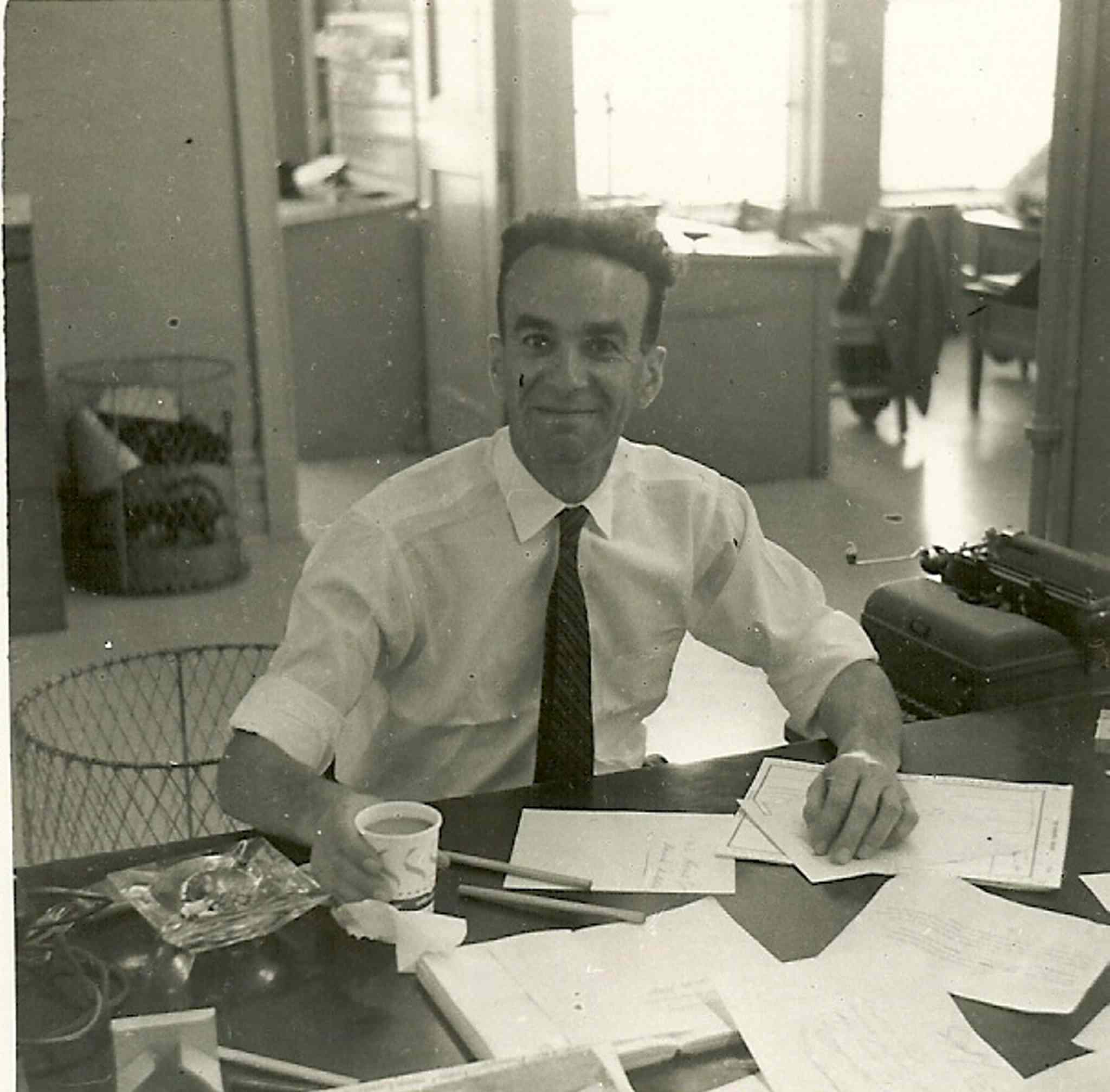 Val Werier does some newspapering in this undated photo.