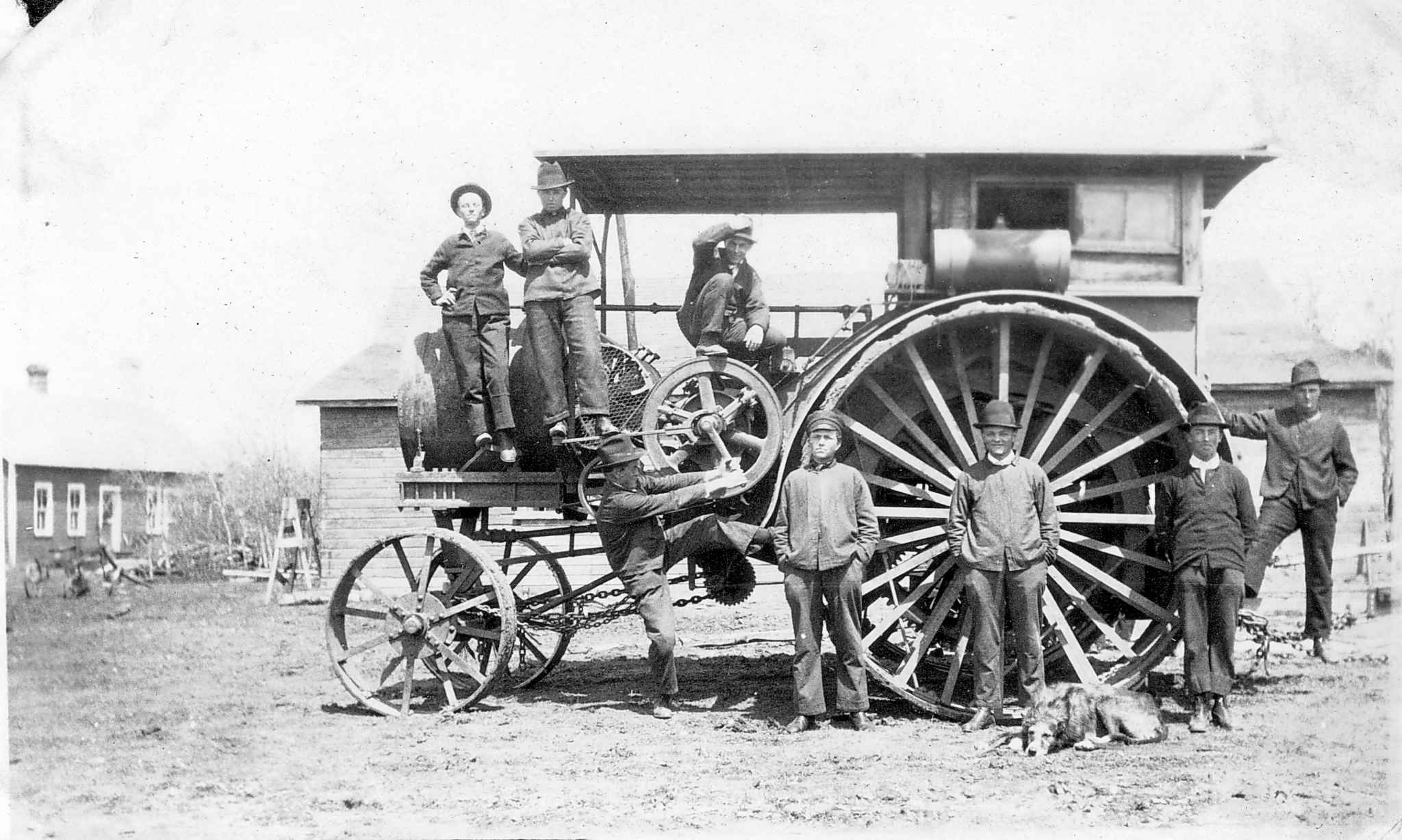 An Aultman Taylor 30-60 tractor in 1924. Manitoba Historical Society)
