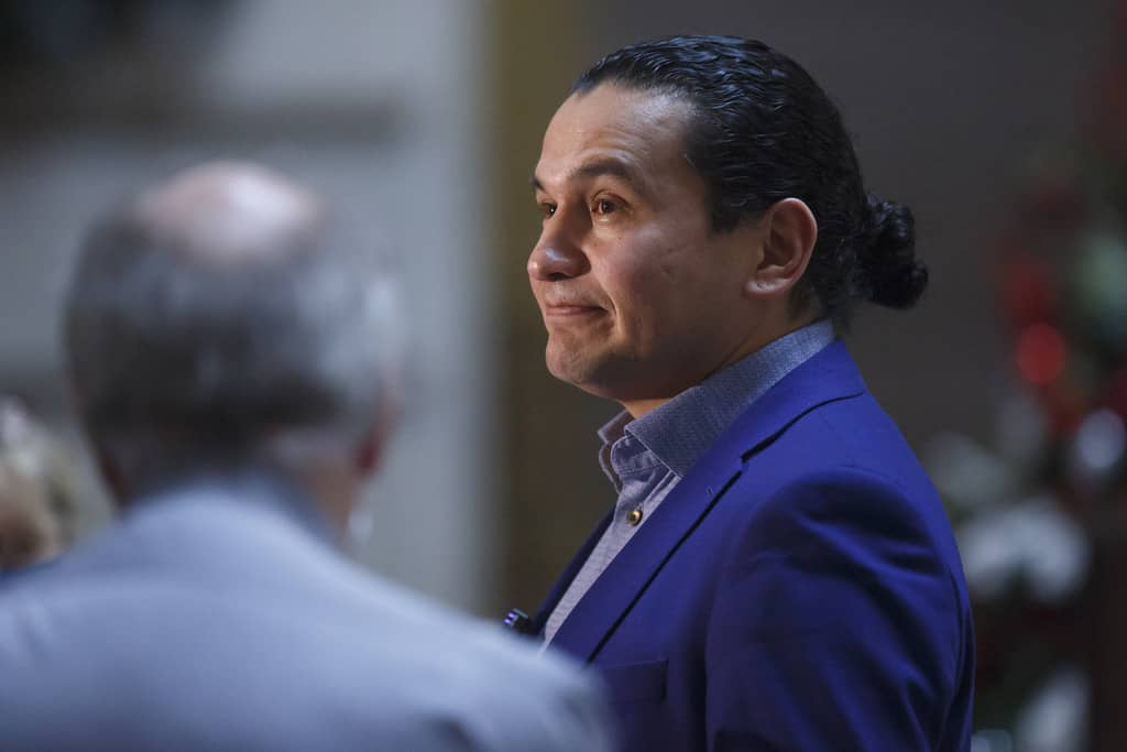 Opposition leader NDP's Wab Kinew.