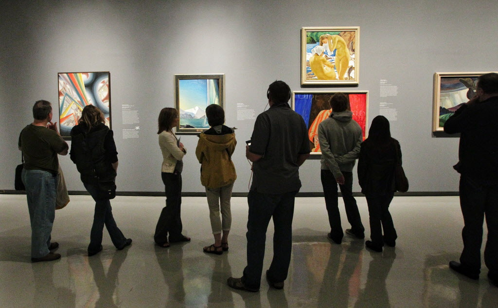 The Winnipeg Art Gallery was packed on a rainy Victoria Day weekend as art lovers took the opportunity to visit 100 Masters: Only in Canada.