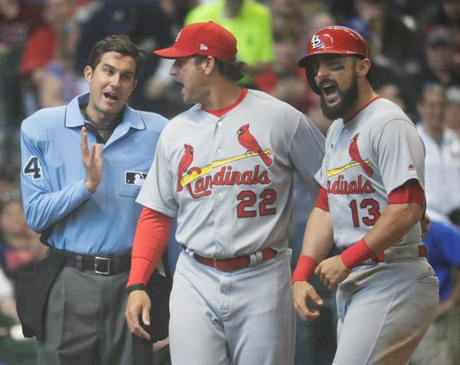 Cards' Carpenter serving one-game suspension Tuesday vs. Jays
