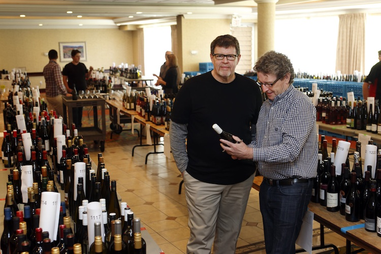 WineAlign National Wine Awards of Canada co-head judges Anthony Gismondi (left) and David Lawrason stand among the 1,100 entrants in the competition.