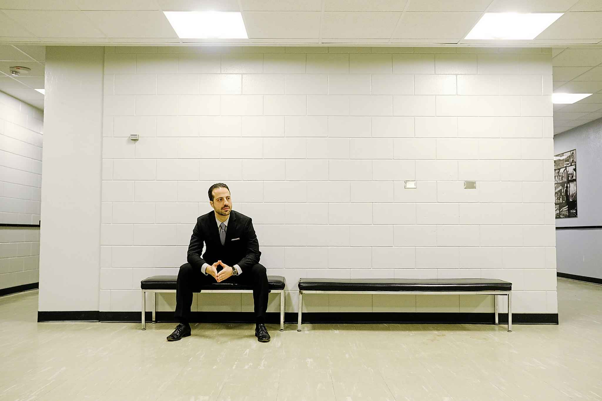 Composer Harry Stafylakis, backstage at the Centennial Concert Hall Saturday night after his piece Sun Exhaling Light was performed by the Winnipeg Symphony Orchestra as part of the Winnipeg New Music Festival. (Mike Sudoma / Winnipeg Free Press)</p>