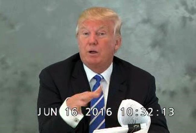 Video of Trump acknowledging business losses set for release
