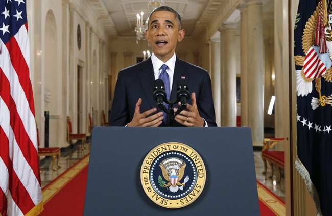 President Barack Obama speaks during a nationally televised address from the White House in Washington, Thursday, Nov. 20, 2014. Spurning furious Republicans, President Barack Obama unveiled expansive executive actions on immigration Thursday night to spare nearly 5 million people in the U.S. illegally from deportation and refocus enforcement efforts on