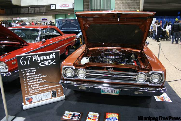 Vic Robinson's 1967 Hemi GTX took top honours in the Muscle Car Cafe and was also chosen one of Manitoba's top five vehicles in the show.