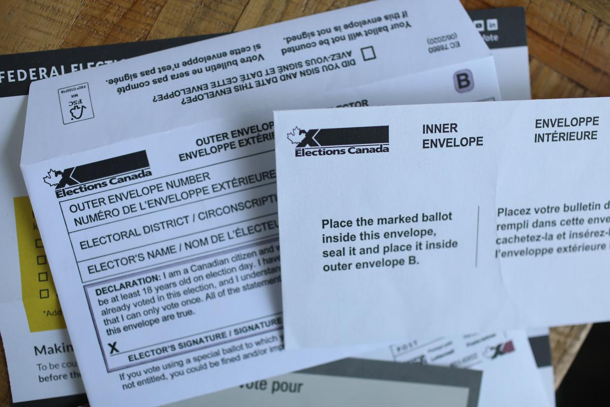 A mail-in kit includes the ballot and three envelopes to enclose in a certain order, one of which must be signed and dated.
