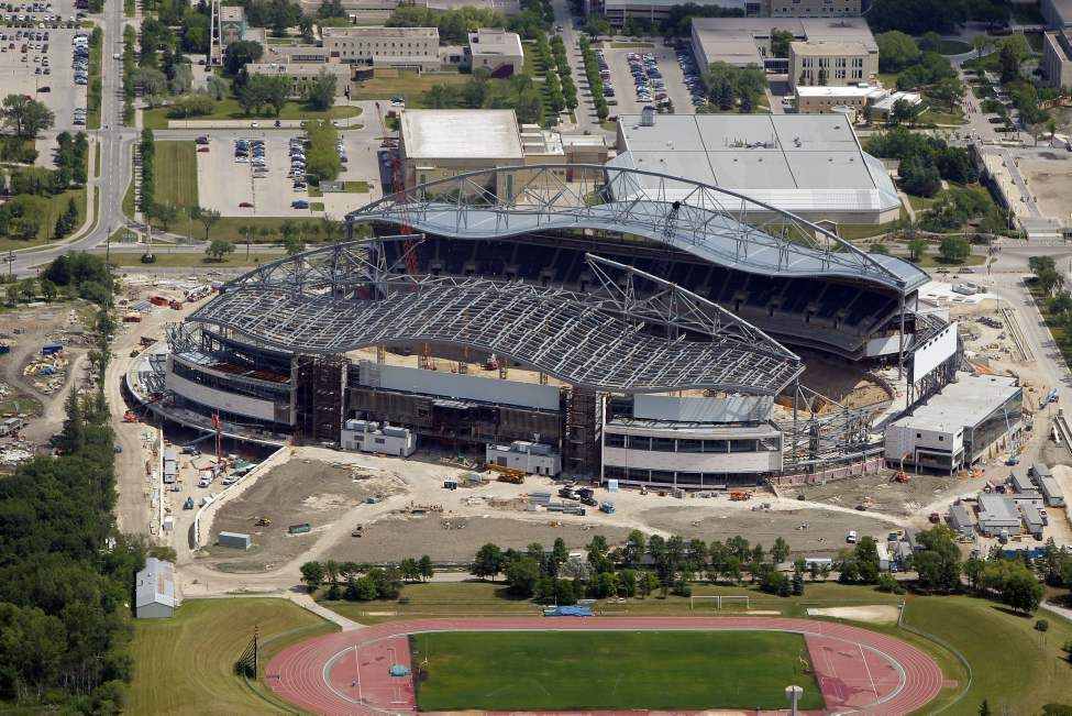 Investors Group Field - future home of the Winnipeg Blue Bombers. July 3, 2012  (BORIS MINKEVICH / WINNIPEG FREE PRESS)
