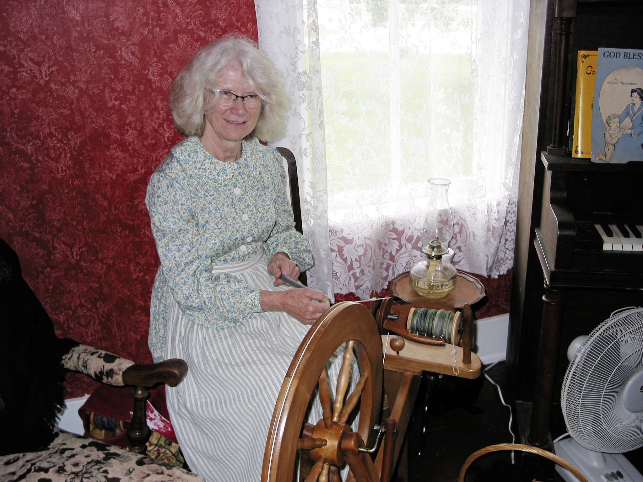 Dorothy Braun, of Grosse Isle, is one of the volunteers who help to bring the history of Ridgeway House alive for visitors.