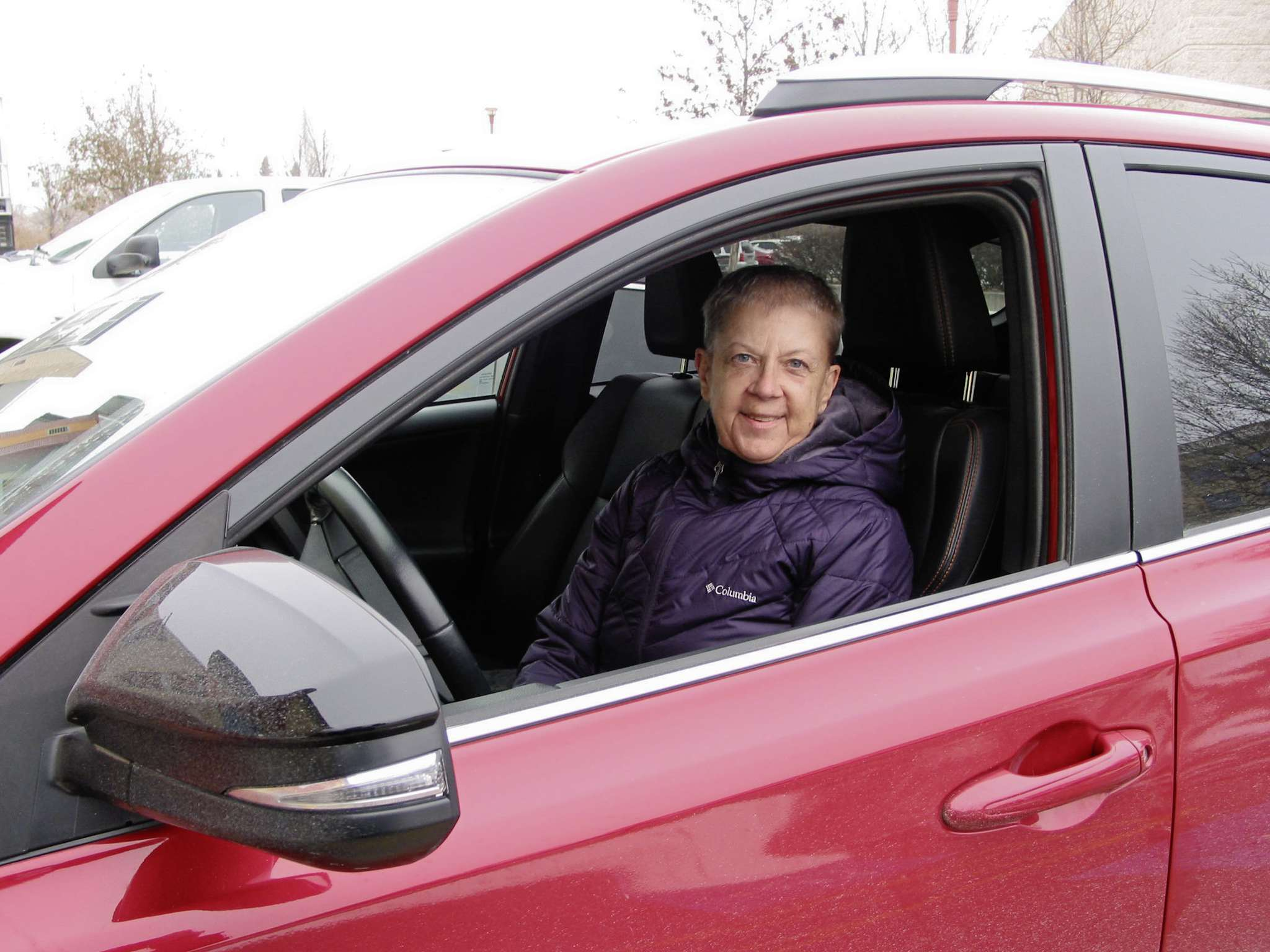 Volunteer driver with Bar None Rideshare project Julie Mikuska is shown at the wheel. She is one of about 40 people who regularly pick up Winnipeggers who want to visit a spouse, relative or friend in prison but don't have their own means of transportation.