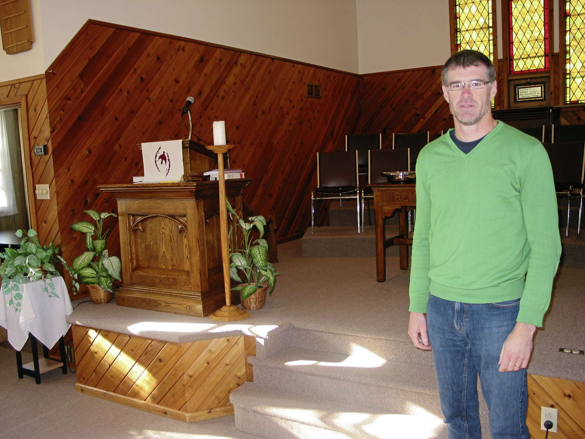 Sanford United Church member Jamie Scharf chairs the Meridian Pastoral Care Charge committee seeking a new minister.