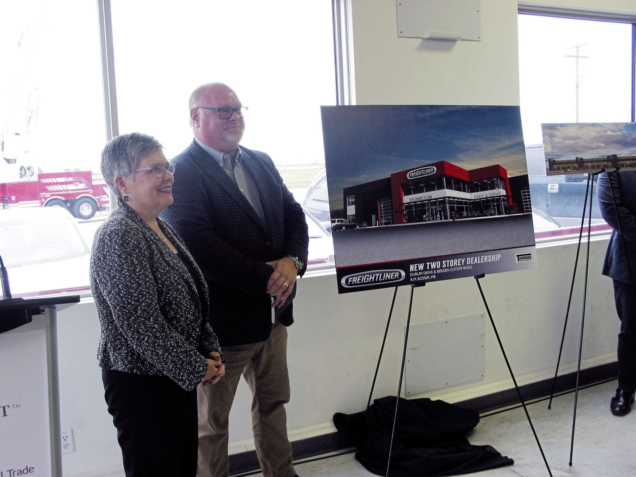 Plans showing Freightliner Manitoba's and Canada West's new facilities were unveiled on Sept. 20.