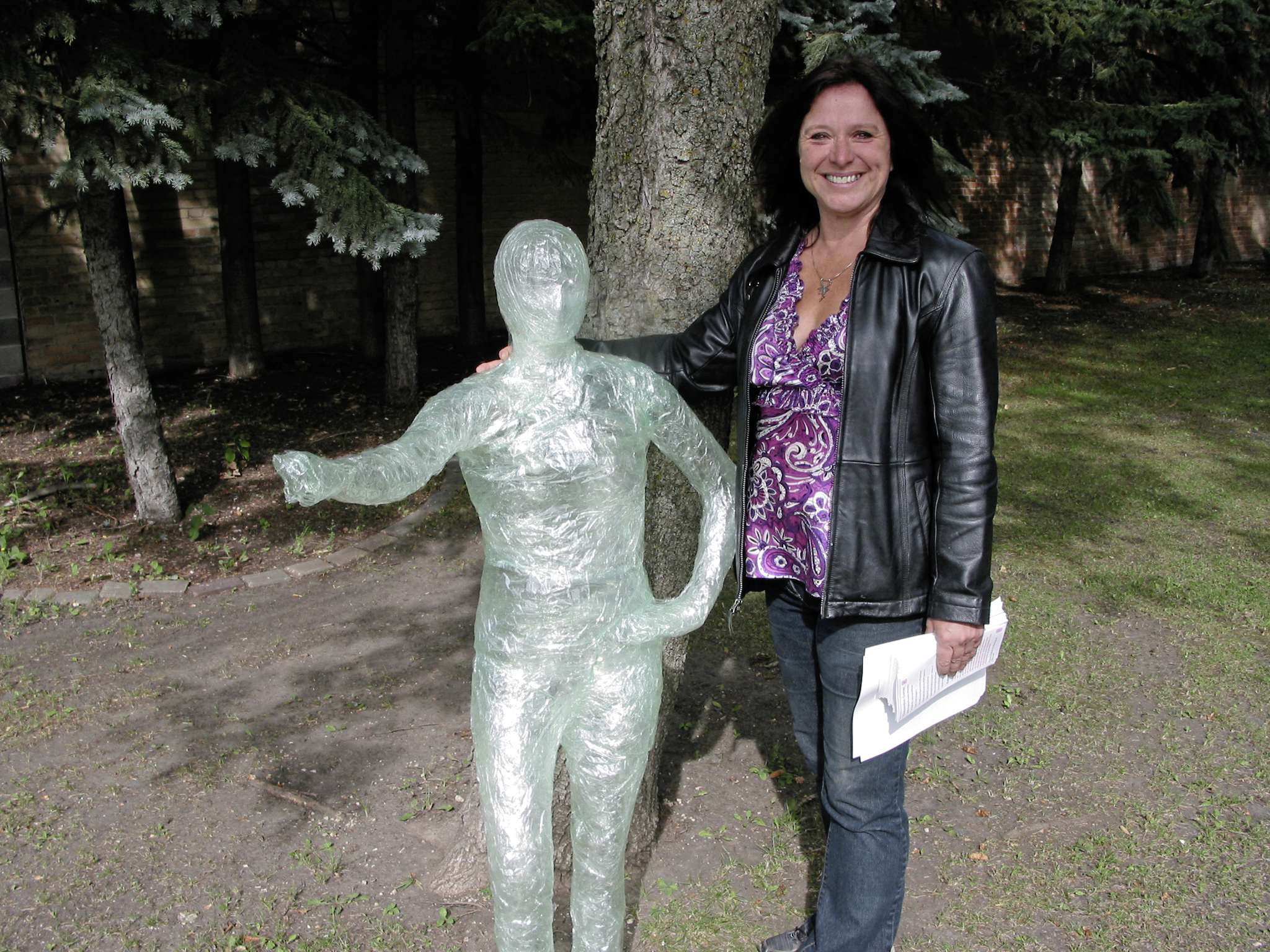 Portage la Prairie artists Yvette Cuthbert, shown here with a human lantern created for this year's Celebrate the Night event, was named the Arts/Cultural Person of the Year by the Portage & District Chamber of Commerce.