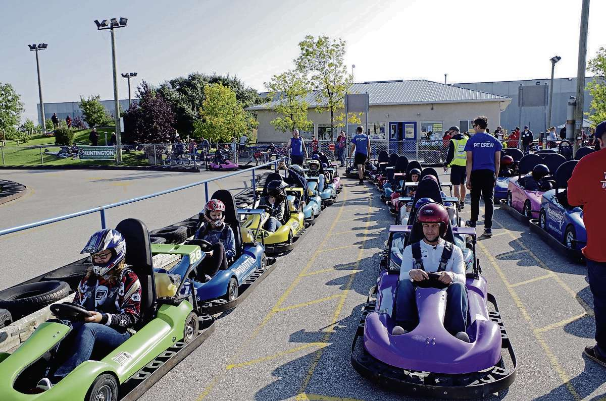 Participants in last year's Huntington Indy Go-Kart Challenge are shown here. This year's event is set for Sun., Sept. 8 from 9 a.m. to 1 p.m. at Thunder Rapids Amusement Park (5058 Portage Ave. in Headingley).