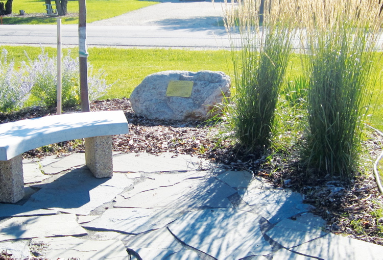 The memorial garden and plaque located at the Headingley Municipal Library will be dedicated to Dr. Robert Thorlakson on Sept. 14 at noon.