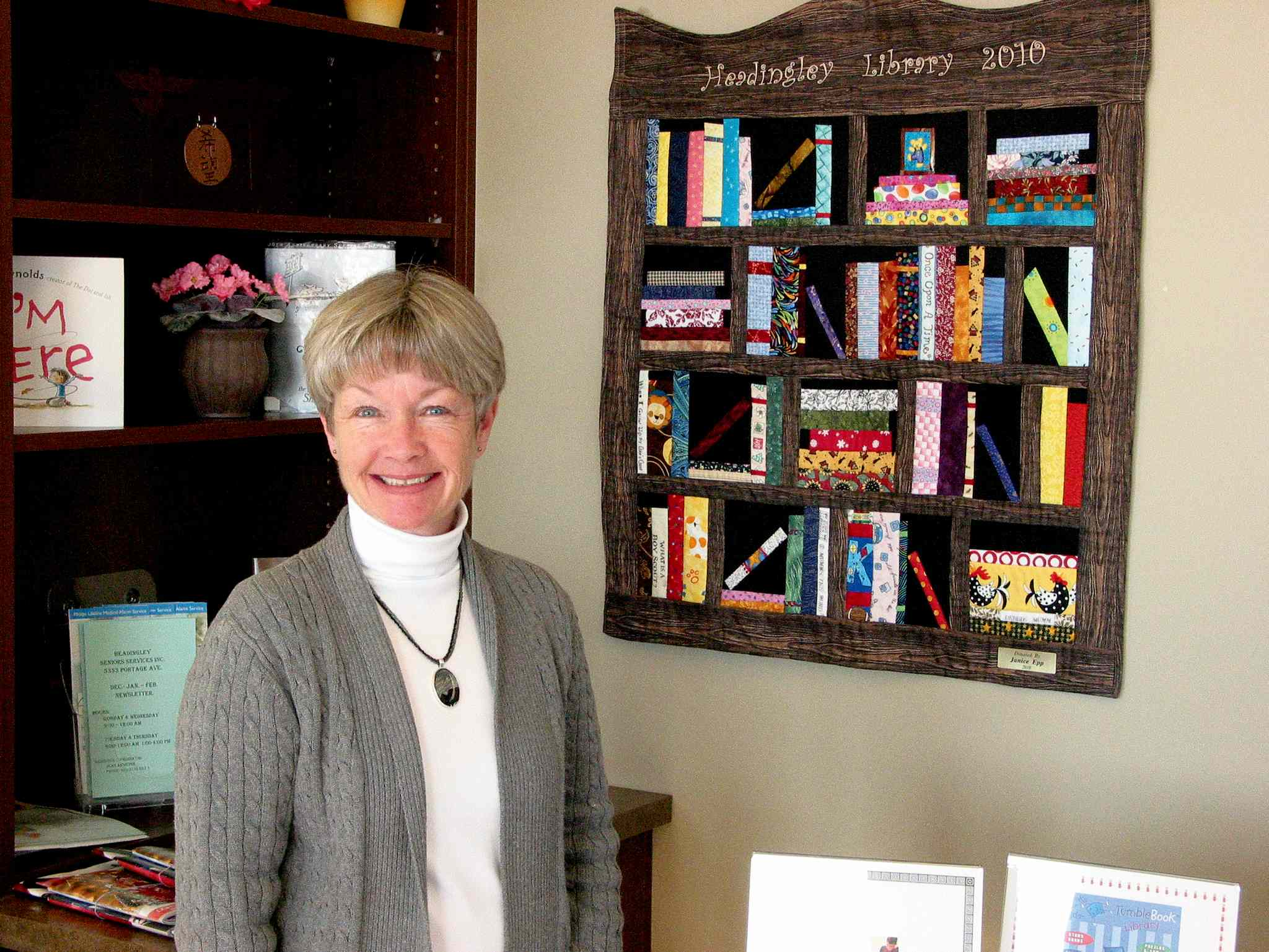 Joan Spice, head librarian, and the Friends of the Library members are preparing for a book sale on Nov. 8 and 9 at the Headingley Municipal Library.