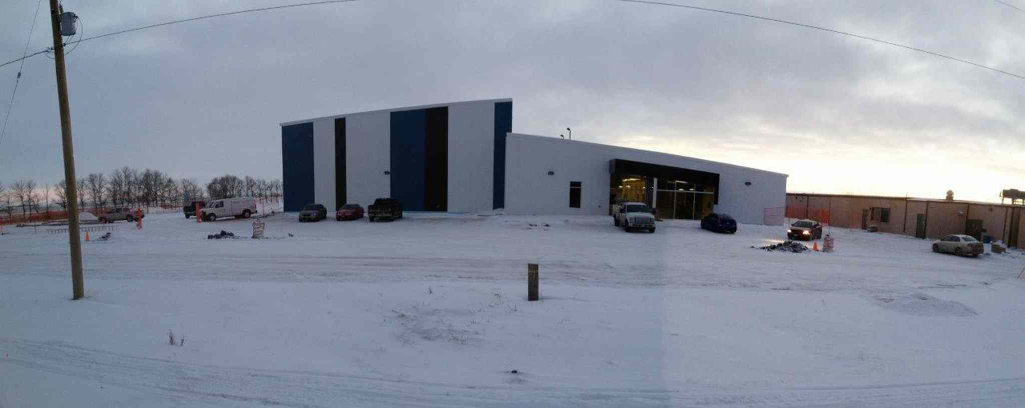 The new La Salle Community Centre's exterior is finished, but work continues inside prior to its grand opening on Feb. 8, 2014.