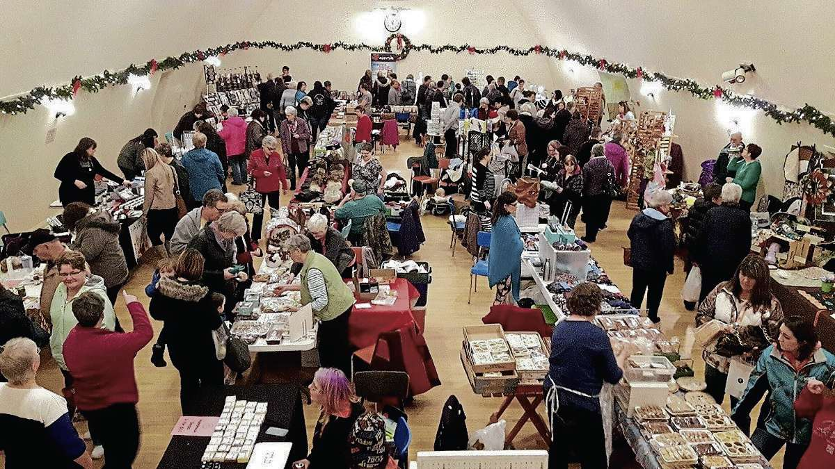 Shoppers and vendors at last year's annual Christmas Market in the Oakville Community Hall are shown. This year's market is set for Sat., Nov. 24 from 10 a.m. to 3 p.m.