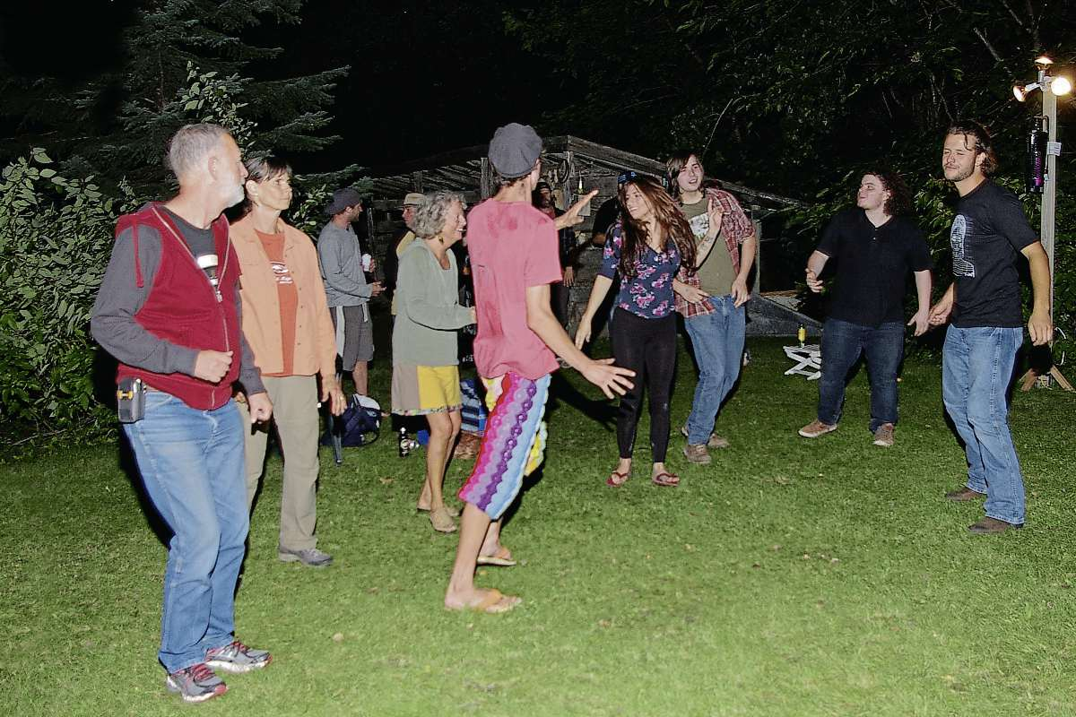 Dancers at last year's Whoop and Hollar Festival enjoyed music under the stars.